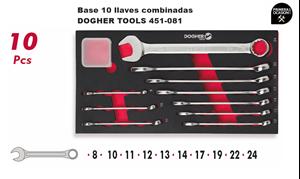 Imagen de Bandeja 10 llaves combinadas DOGHER TOOLS 451-081