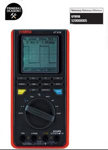 Imagen de Medidor digital multifuncion FORTEX UT81B