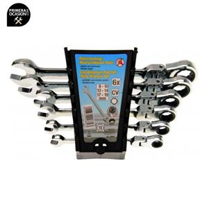 Imagen de Juego 6 llaves combinadas de carraca articulada KRAFTMANN