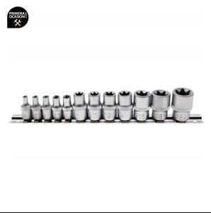 """Imagen de Juego 12 llaves de vaso Torx 1/4""""+3/8"""" BGS 2038"""