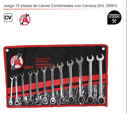 Imagen de Juego 12 llaves combinadas con carraca KRAFTMANN 30001