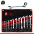 Imagen de Juego 12 llaves combinadas de carraca con cabeza flexible KRAFTMANN 30002