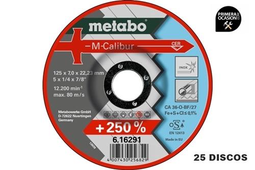 Imagen de 25 Discos desbaste M-Calibur METABO 125x7,0 mm