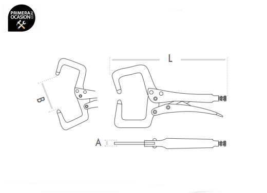 /Ø m/áx.: 15 mm, L = 215 mm 215mm KS Tools 115.1082 Tenazas grip de soldador bloqueables para chapas acanaladas colocar unas junto a otras