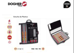 Imagen de Juego 6 destornilladores aislados de precision DOGHER TOOLS 365-001