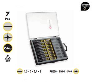 Imagen de Juego 7 destornilladores de precision ESD DOGHER TOOLS 390-002