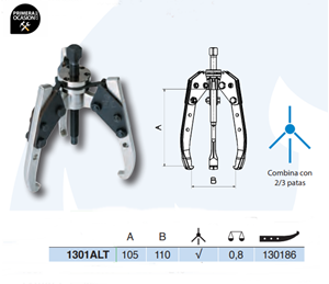 Imagen de Extractor autocentrante FORZA 1301ALT 105x110 mm