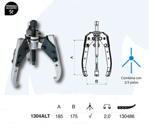 Imagen de Extractor autocentrante FORZA 1304ALT 185x175 mm