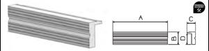 Imagen de Juego mordazas aluminio con ranurado FORZA 8810051