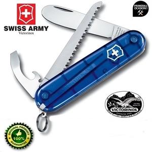 Imagen de Navaja Suiza mi primera VICTORINOX azul translucida con sierra