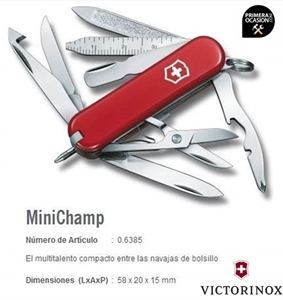 Imagen de Navaja Suiza VICTORINOX MINICHAMP roja