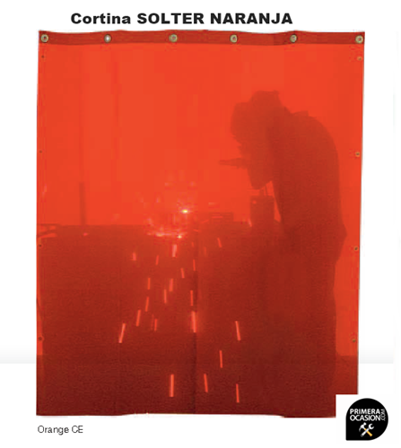 Imagen de Cortina soldadura naranja SOLTER  1800x1400