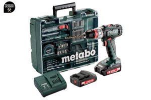 Imagen de Taladradora atornilladora bateria METABO BS 18 L Quick Set Workshop