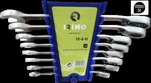 Imagen de Juego 8 llaves Combinadas Carraca 8-19 mm IRIMO 18-8-H