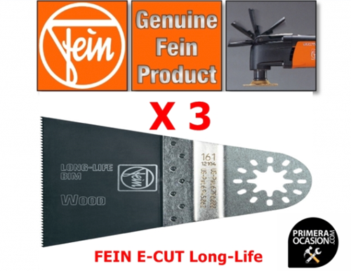 Imagen de Fein Multimaster 3 hojas sierra E-Cut Long-Life 65 mm