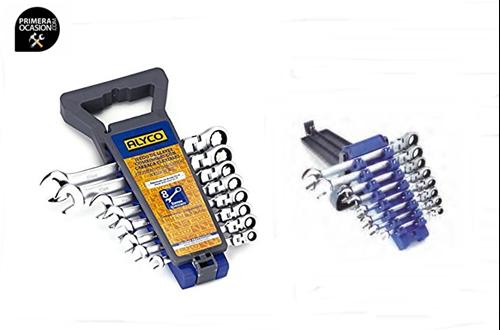 Imagen de Juego 8 llaves combinada articulada con carraca ALYCO 191951