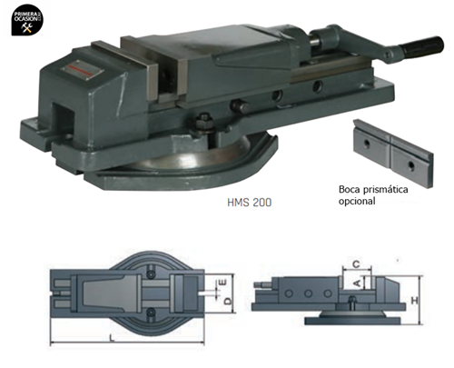 Imagen de Mordaza hidraulica OPTIMUM HMS 100