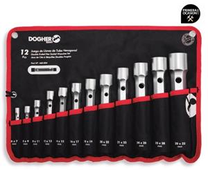 Imagen de Juego 12 llaves de tubo DOGHER TOOLS 460-004