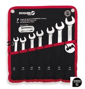 Imagen de Juego 7 llaves combinadas carraca reversible DOGHER TOOLS 457-001