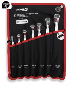 Imagen de Juego 7 llaves de vaso articuladas dobles DOGHER TOOLS 467-001