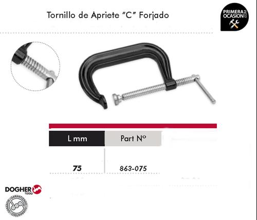 "Imagen de Tornillo de apriete ""C"" forjado 75 mm DOGHER TOOLS 863-075"
