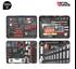 Imagen de Maleta 134 herramientas servicio asistencia tecnica METALWORKS  BTK134A