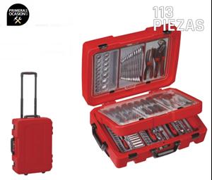 Imagen de Trolley 113 herramientas servicio TENGTOOLS SC01
