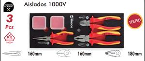 Imagen de Bandeja 3 alicates aislados 1000V DOGHER TOOLS 250-080