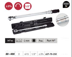 "Imagen de Llave dinamometrica profesional 1/2"" 80-400 Nm DOGHER TOOLS 627-70-350"