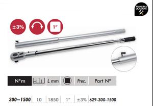 "Imagen de Llave dinamometrica profesional 1"" 300-1500 Nm DOGHER TOOLS 629-300-1500"