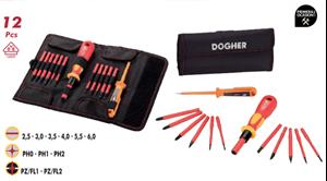 Imagen de Juego 13 destornilladores varillas intercambiables DOGHER TOOLS 360-013