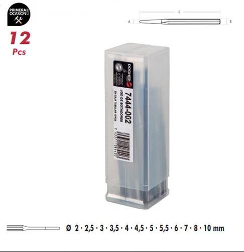 Imagen de Juego 12 botadores cilindricos DOGHER TOOLS 7444-002