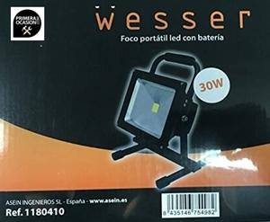 Imagen de Foco led portatil bateria 30 watios WESSER 1180410