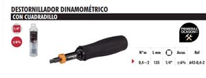 "Imagen de Destornillador dinamometrico 1/4"" DOGHER TOOLS 642-0.4-2"