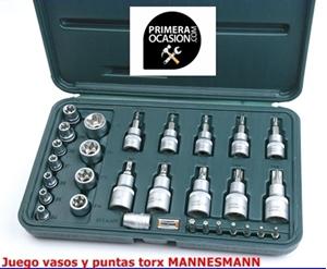 Imagen de Juego 29 vasos y puntas Torx  MANNESMANN