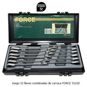 Imagen de Juego 12 llaves combinadas de carraca FORCE 51210