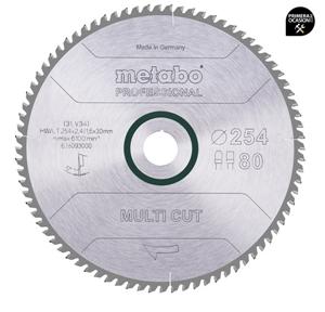 Imagen de Disco sierra METABO Multi Cut  Profesional 254 x 30