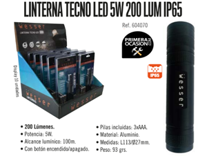 Imagen de Linterna led WESSER 200 lumen