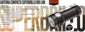 Imagen de Linterna LED superbrillo recargable 800 lumen