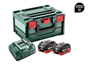 Imagen de Set de 2 baterias LiHD 10.0 Ah y cargador METABO ASC 145