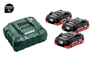 Imagen de Set de 3 baterias LiHD 4.0 Ah y cargador METABO ASC 55