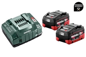 Imagen de Set de 2 baterias LiHD 5.5 Ah y cargador METABO ASC 145