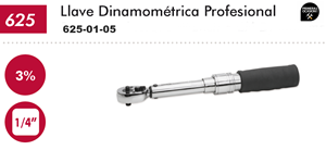 "Imagen de Llave dinamometrica profesional 1/4"" 1-6 Nm DOGHER TOOLS 625-01-06"