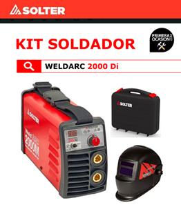 Imagen de Soldador Inverter SOLTER WELDARC 2000 DI + Kit soldadura